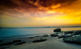 Tranquil Beach Sunset  Royalty Free Stock Image