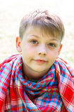 Tranquil boy portrait Royalty Free Stock Photo