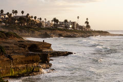 Tranquil California Coastline during a Sunset Royalty Free Stock Photo