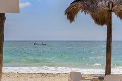 Tranquil Caribbean Beach Stock Photo