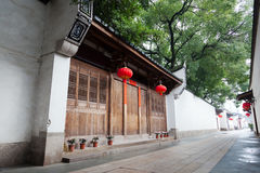 Tranquil Chinese traditional alley. Stock Image