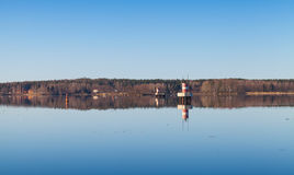 Tranquil coastal landscape of the Saimaa Canal Stock Photo