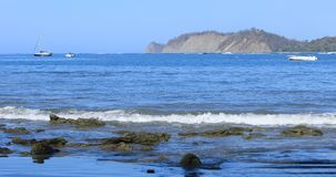 Tranquil coastline scene in Costa Rica 4K. A Tranquil coastline scene in Costa Rica 4K stock video footage