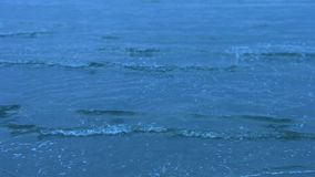 Tranquil cold sea waves splashing. Neverending deep blue water. Sad memories. Stock footage stock video footage