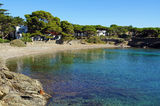Tranquil cove in Mediterranean Spain Stock Images