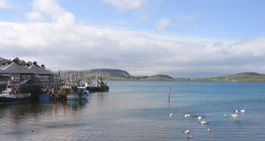 Tranquil Day at Oban Harbour. View of Oban Harbour, Argyll, Scotland,  on a tranquil summer day Stock Images