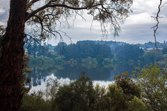 Tranquil Daylesford Lake after spring rain Royalty Free Stock Photography
