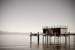 Tranquil dock Stock Images