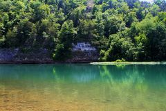 Tranquil Emeral Waters on the Buffalo National River Stock Image