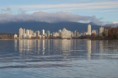 Tranquil English Bay, Vancouver Cityscape Royalty Free Stock Image