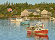 Tranquil fishing village Stock Photos