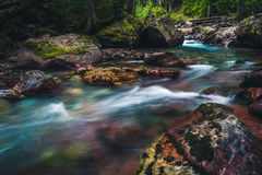 Tranquil flowing river. Royalty Free Stock Images