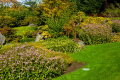 Tranquil garden landscape Royalty Free Stock Photo