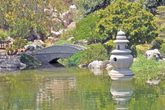 Tranquil Garden. This restful garden with calm water is located in the Chinese section of the Huntington Museum`s botanical gardens Stock Photography
