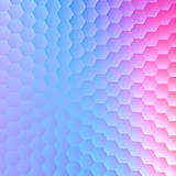 Tranquil hexagonal blue purple background. Abstract pattern illustration design. Paper card space text. Blank image cover. Royalty Free Stock Image
