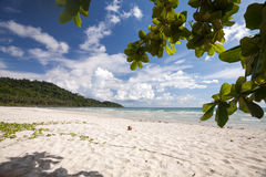 Tranquil island beach. Landscape photo of tranquil island beach Royalty Free Stock Images