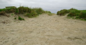 Tranquil isolated sand dunes stock video