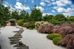 Tranquil Garden. A tranquil Japanese Garden in Chicago Botanic Garden Royalty Free Stock Photo