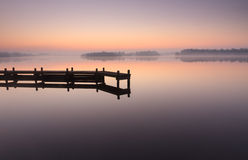 Tranquil, jetty sunrise Royalty Free Stock Photo