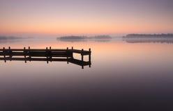 Tranquil, jetty sunrise Royalty Free Stock Photo