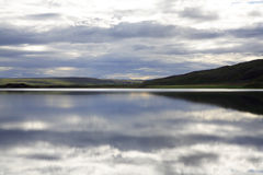 Tranquil lake. At dusk in Iceland Royalty Free Stock Image