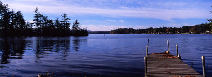 Tranquil lake. A tranquil lake in the morning, New Hampshire, USA royalty free stock photo