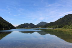 Tranquil lake in Austira. One of the lakes in Salzburger Seenland near Salzburg, Austria stock photography