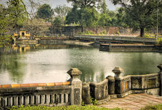 Tranquil Lake, Imperial Citadel, Hue, Vietnam Royalty Free Stock Image