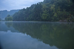 Tranquil lake and mountains Stock Image