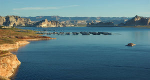 Tranquil Lake Powell and Glen Canyon Royalty Free Stock Photos