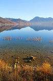 Tranquil lake tegernsee, water reflection Stock Photos