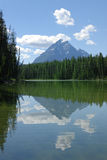 Tranquil lake view in Canadian Rockies Stock Photo