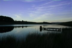 Tranquil Lakeside. Reservoir in Blackburn, Lancashire, England. Taken early evening Stock Photos