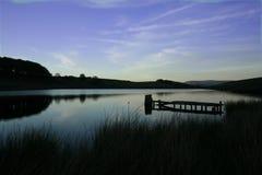 Tranquil Lakeside. Reservoir in Blackburn, Lancashire, England. Taken early evening stock photos