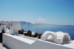 Tranquil landscape. (Santorini island, Greece stock photography