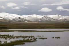 Tranquil landscape Lake Son-Kul, Kyrgyzstan.  Royalty Free Stock Photography