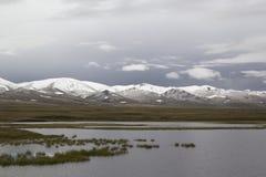 Tranquil landscape Lake Son-Kul, Kyrgyzstan.  Stock Photos