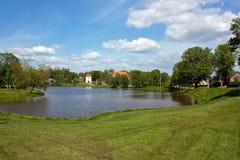 Tranquil landscape pond Stock Image