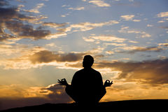 Tranquil Meditation Stock Images