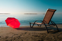Tranquil morning beach Stock Photography