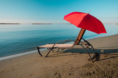 Tranquil morning beach Stock Images
