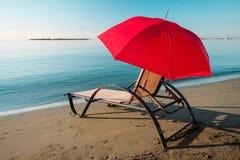 Tranquil morning beach Stock Photos