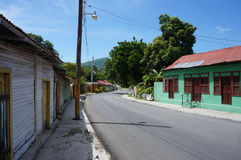 Tranquil morning street scene in La Descubierta Royalty Free Stock Images