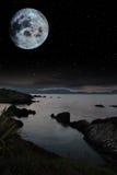 Tranquil Night Time Coastal Irish View Stock Images