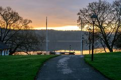 Tranquil November morning in Sweden Royalty Free Stock Images