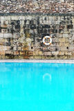 Tranquil Old Swimming Pool with Clear Water Stock Photo