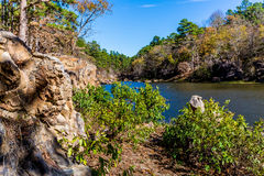 Tranquil Outdoor Scene in Oklahoma. A Tranquil Autumn Outdoor Scene at Robbers Cave State Park in Oklahoma Stock Photography