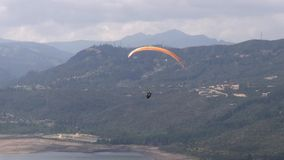 Tranquil, Peaceful, Calm, Paragliding, Extreme Sports stock video