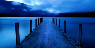 Tranquil Peaceful Lake with Jetty Royalty Free Stock Photography