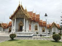 Tranquil peaceful Thai luxury temple stock image